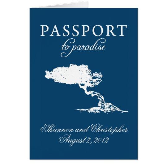 Wedding Passport Invitation to Aruba