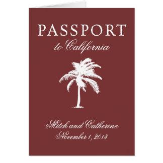 Wedding Passport Invitation to California
