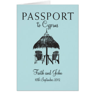Wedding Passport Invitation to Cyprus