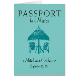 Wedding Passport Invitation to Mexico Cards