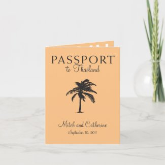 Wedding Passport Invitation to Thailand
