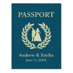 wedding passport post cards