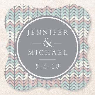 Wedding | Pastel Knit Paper Coaster