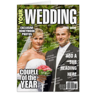 Wedding Personalized Magazine Cover Card