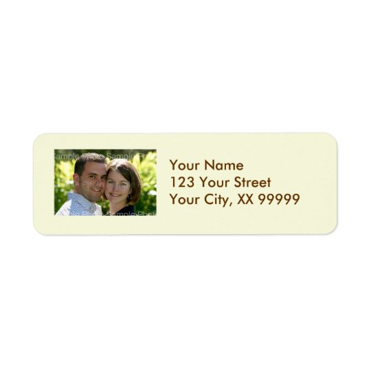 Wedding Photo Address Labels in Cream