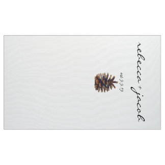 Wedding Photo Backdrop Painted Pine Cone Fabric