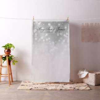 Wedding Photo Backdrop Silver Sparkle Lights Fabric