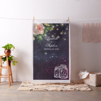 Wedding Photo Booth Backdrop Chic Floral Mason Jar