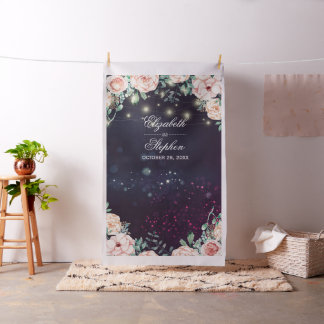 Wedding Photo Booth Backdrop Floral String Lights