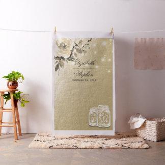 Wedding Photo Booth Backdrop Gold Floral Mason Jar