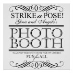 Wedding Photo Booth Poster Sign Customisable