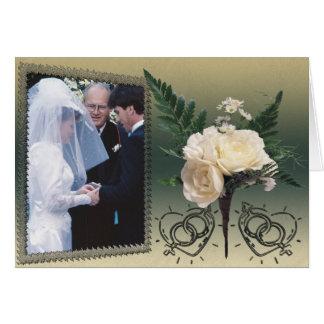 Wedding Photo Card Greeting Card