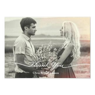 Wedding Photo Card - Elegant Script 13 Cm X 18 Cm Invitation Card