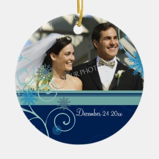 Wedding Photo Christmas Ornament