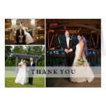 Wedding Photo Collage - Thank You Note Card