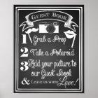 Wedding photo guest book sign chalkboard