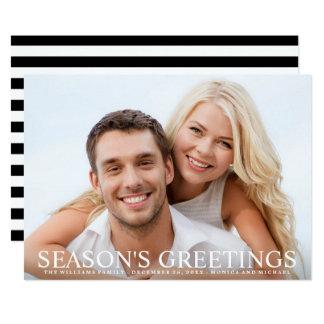 Wedding Photo Holiday Chic Season's Greetings Card