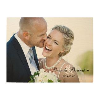 Wedding Photo Keepsake Wood Canvas