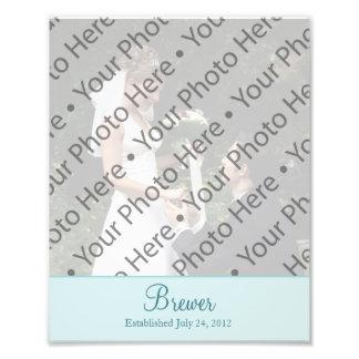 Wedding Photo Prints with Custom Text