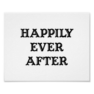 Wedding photo prop sign Happily Ever After Poster