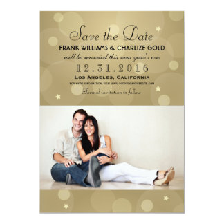 Wedding Photo Save the Date | Champagne Gold 13 Cm X 18 Cm Invitation Card