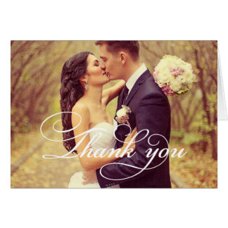 Wedding Photo   Script Thank You Card