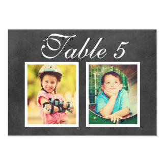 Wedding Photo Table Number | Black Chalkboard Card