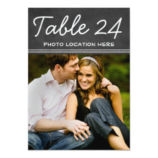 Wedding Photo Table Number Cards | Chalkboard 13 Cm X 18 Cm Invitation Card