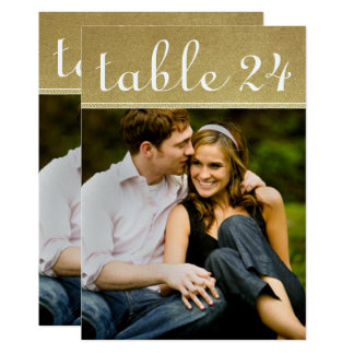 Wedding Photo Table Number Cards | Gold Shimmer