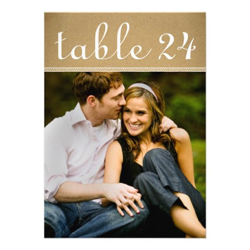 Wedding Photo Table Number Cards | Kraft Paper