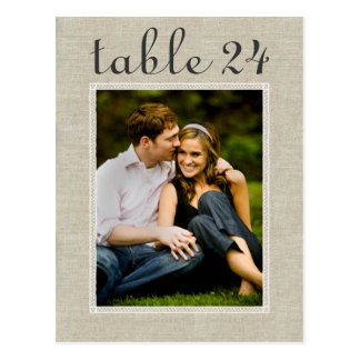 Wedding Photo Table Number | Custom Template Postcard