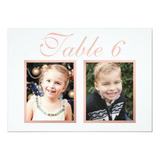 Wedding Photo Table Number | Elegant Rose Gold