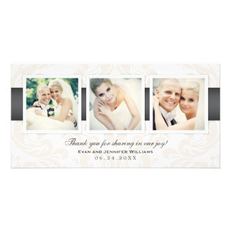 Wedding Photo Thank You Cards | Three Photos Picture Card