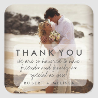 Wedding Photo Thank You Favor Stickers