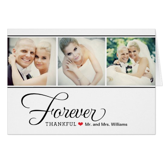 Wedding Photo Thank You Note Cards | Black