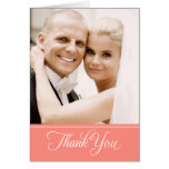 Wedding Photo Thank You Note Cards | Coral