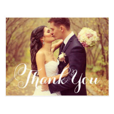 Wedding Photo Thank You Note Cards | Postcard at Zazzle