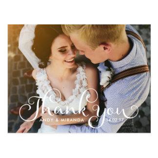 Wedding Photocard Postcard Elegant Unique Card