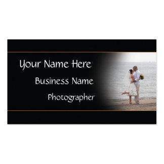 Wedding Photographer Business Beach card - color Business Card Template