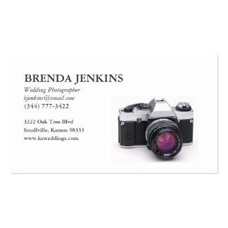 Wedding Photographer Business Card... - Customized Pack Of Standard Business Cards