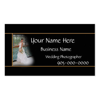 Wedding Photographer Business Elegant card - color Pack Of Standard Business Cards