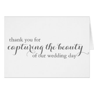 Wedding Photographer (Videographer) Thank You Card