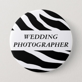 Wedding Photographer Zebra Wedding Button