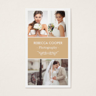 Wedding Photography Collage Elegant Toffee Color