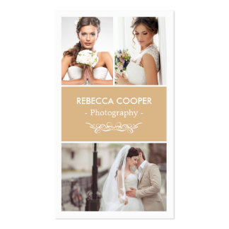 Wedding Photography Collage Elegant Toffee Color Pack Of Standard Business Cards