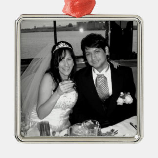 Wedding Picture Options Silver-Colored Square Decoration