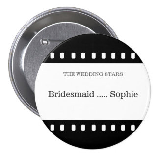 Wedding Pin Bridesmaid With A Movie Film Theme