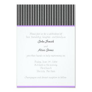 Wedding Pinstripe 9 Cm X 13 Cm Invitation Card