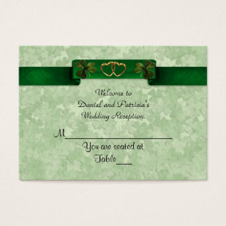 Wedding Place cards Irish shamrocks