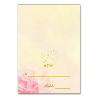 WEDDING PLACE CARDS | LOVE BIRDS FLOWER SET TABLE CARDS